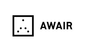 전자계약 공기 측정기 개발 어웨어 로고